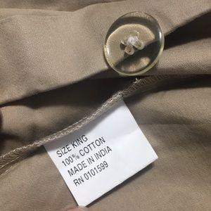 Tan/beige 100% cotton King Size Duvet Soft Satin